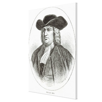 William Penn  engraved by Josiah Wood Whymper Canvas Print