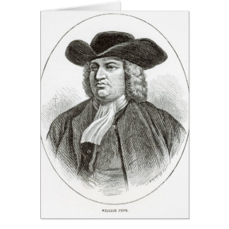 William Penn  engraved by Josiah Wood Whymper Card
