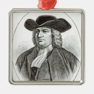 William Penn  engraved by Josiah Wood Whymper Metal Ornament