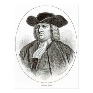 William Penn  engraved by Josiah Wood Whymper Postcard