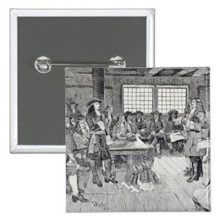 William Penn in Conference with the Colonists Pinback Button