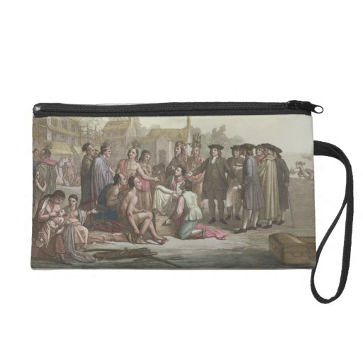 William Penn negotiating the treaty leading to the Wristlet Purse