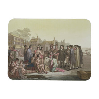 William Penn negotiating the treaty leading to the Magnet