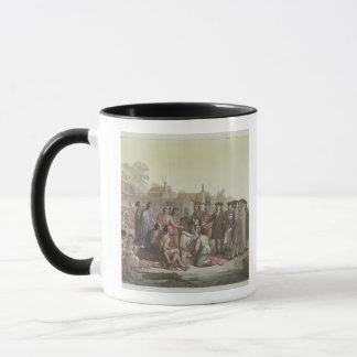 William Penn negotiating the treaty leading to the Mug