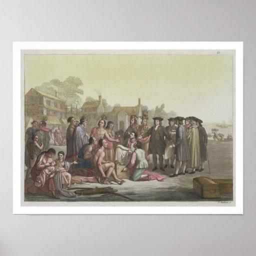 William Penn que negocia el tratado que lleva a Impresiones
