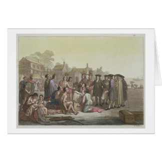 William Penn que negocia el tratado que lleva a Tarjeta De Felicitación