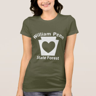 William Penn SF Heart - Women's Dark T-shirt