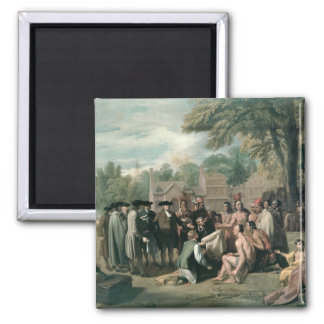 William Penn's Treaty with the Indians in 2 Inch Square Magnet