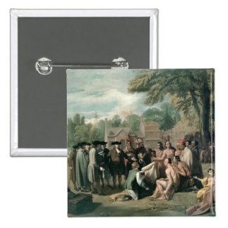 William Penn's Treaty with the Indians in Pinback Button