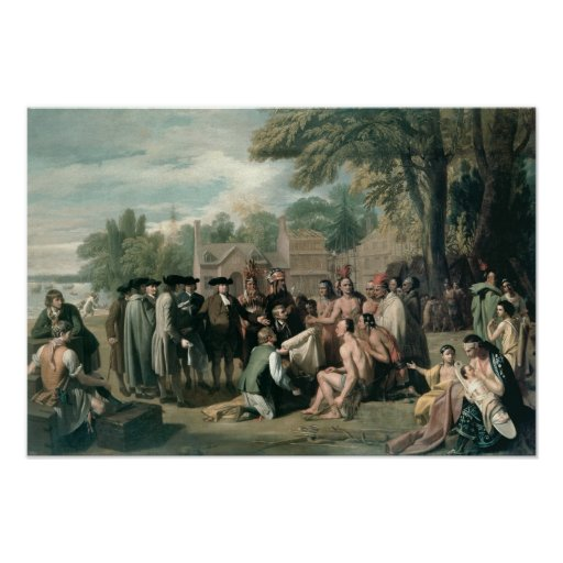William Penn's Treaty with the Indians in Posters