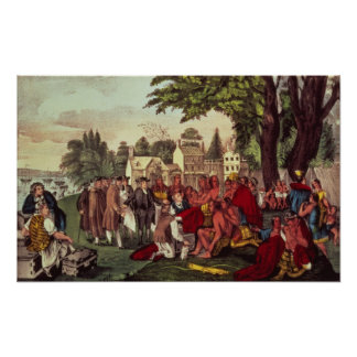 William Penn's Treaty with the Indians Poster