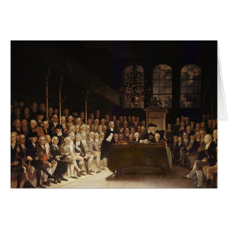 William Pitt addressing the House Card