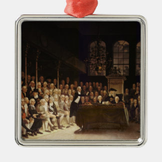 William Pitt addressing the House Metal Ornament