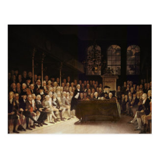 William Pitt addressing the House Postcard