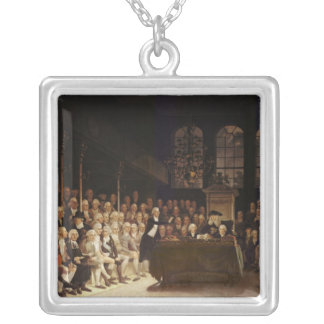 William Pitt addressing the House Silver Plated Necklace