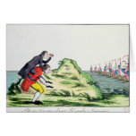 William Pitt Observing the French Squadron Greeting Cards