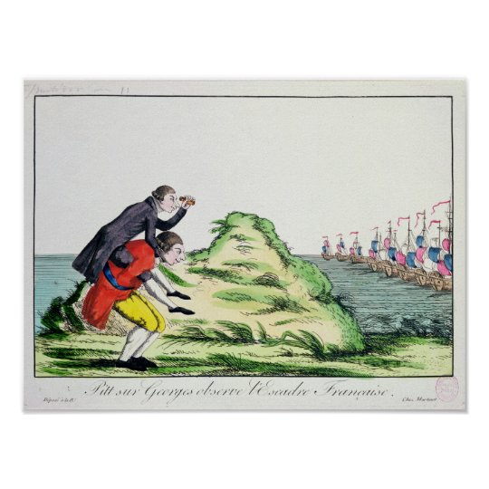 William Pitt Observing the French Squadron Poster