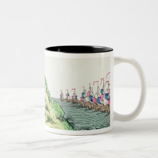 William Pitt Observing the French Squadron Two-Tone Coffee Mug