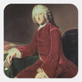 William Pitt the 'Elder', later 1st Earl of Chatha Square Sticker