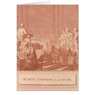 William Pitt the Elder  Opposing the Peace Card