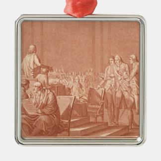 William Pitt the Elder  Opposing the Peace Metal Ornament