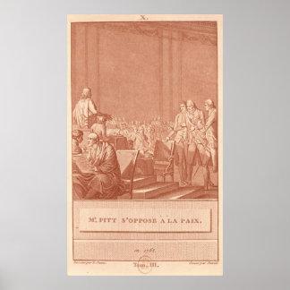 William Pitt the Elder  Opposing the Peace Poster
