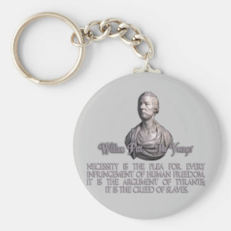 William Pitt the Younger on Necessity Keychain