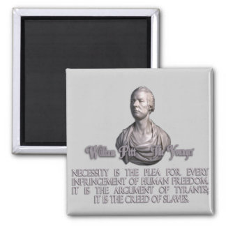 William Pitt the Younger on Necessity Refrigerator Magnets