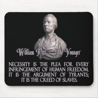 William Pitt the Younger on Necessity Mouse Pad