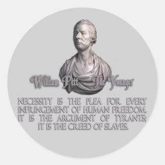 William Pitt the Younger on Necessity Sticker