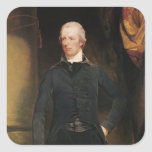 William Pitt the Younger Square Sticker