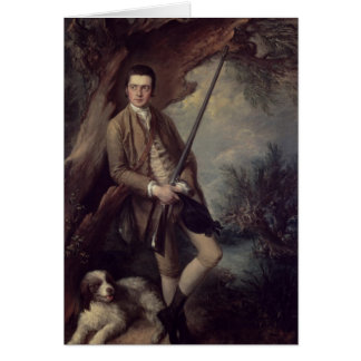 William Poyntz of Midgham and his Dog Amber Greeting Card