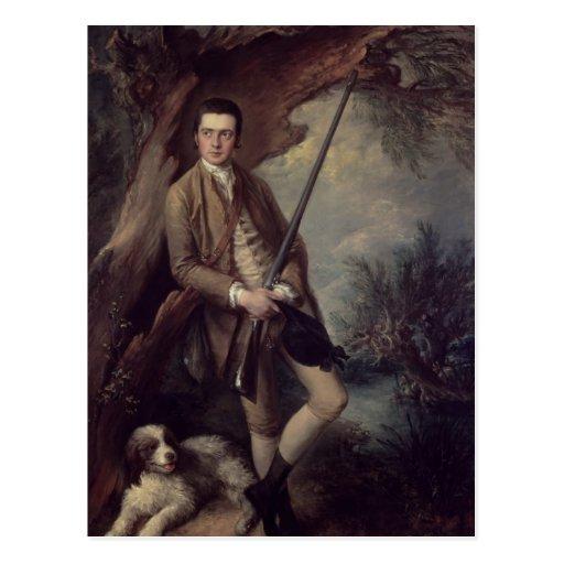 William Poyntz of Midgham and his Dog Amber Postcard