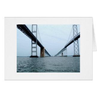 William Preston Lane Jr. Memorial Bridge Greeting Card