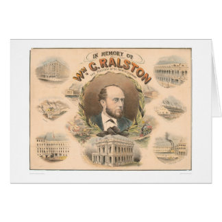 William Ralston, President of Bank of CA. (1384A) Greeting Card