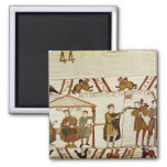 William, Robert de Mortain and Bishop Odo 2 Inch Square Magnet