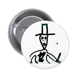 "william s. burroughs ""man in hat"" button"