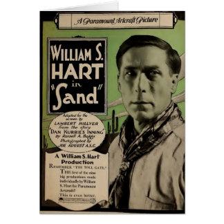William S. Hart 1920 silent movie exhibitor ad Card