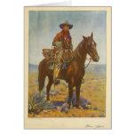 William S. Hart Silent movie actor portrait 1919 Greeting Card