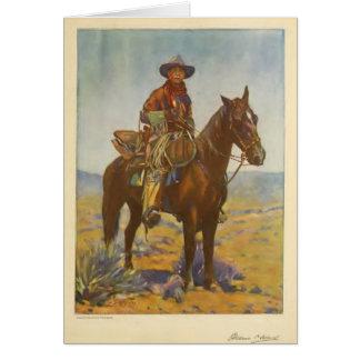William S. Hart Silent movie actor portrait 1919 Card