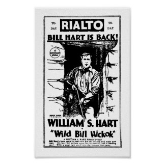 William S. Hart silent western film star movie ad Poster