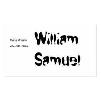 William Samuel Flying Dragon Business Card