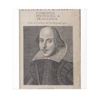 William Shakespeare 1623 Blocs De Papel