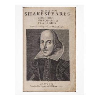 William Shakespeare, 1623 Letterhead Design