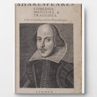 William Shakespeare 1623 Placas Con Fotos