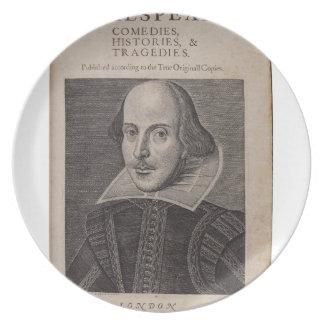 William Shakespeare 1623 Plato De Cena