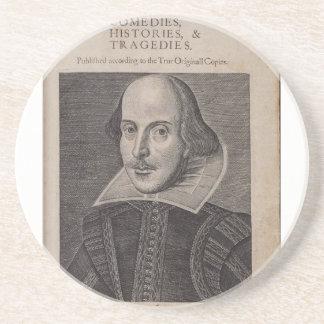 William Shakespeare 1623 Posavasos Personalizados