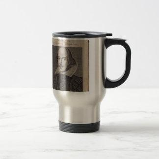 William Shakespeare, 1623 Travel Mug