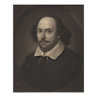 William Shakespeare 1849 Print
