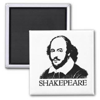 William Shakespeare 2 Inch Square Magnet